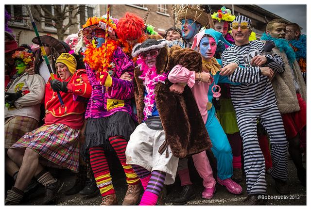 Lignes au carnaval de Dunkerque