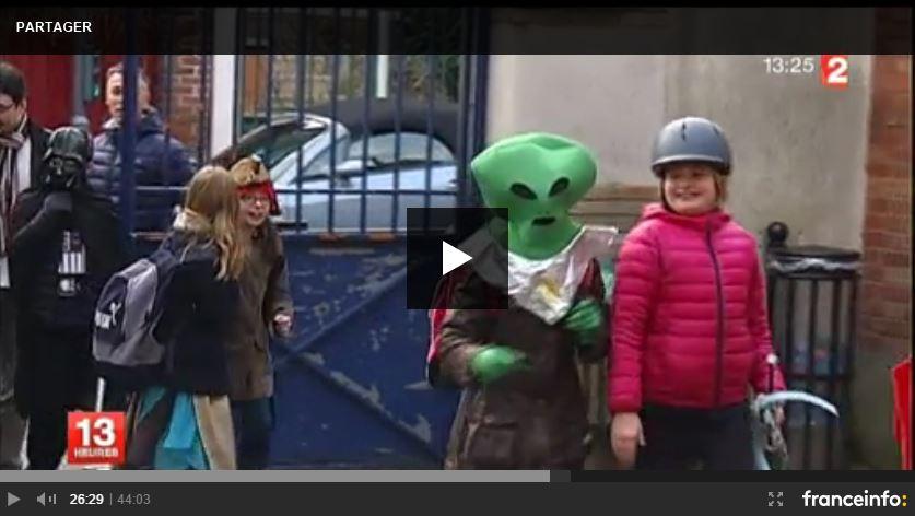 Reportage télévisé sur le carnaval