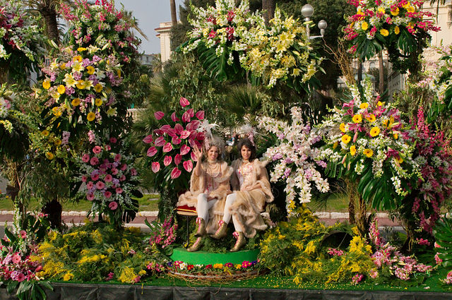 Carnaval à Nice : chars de fleurs