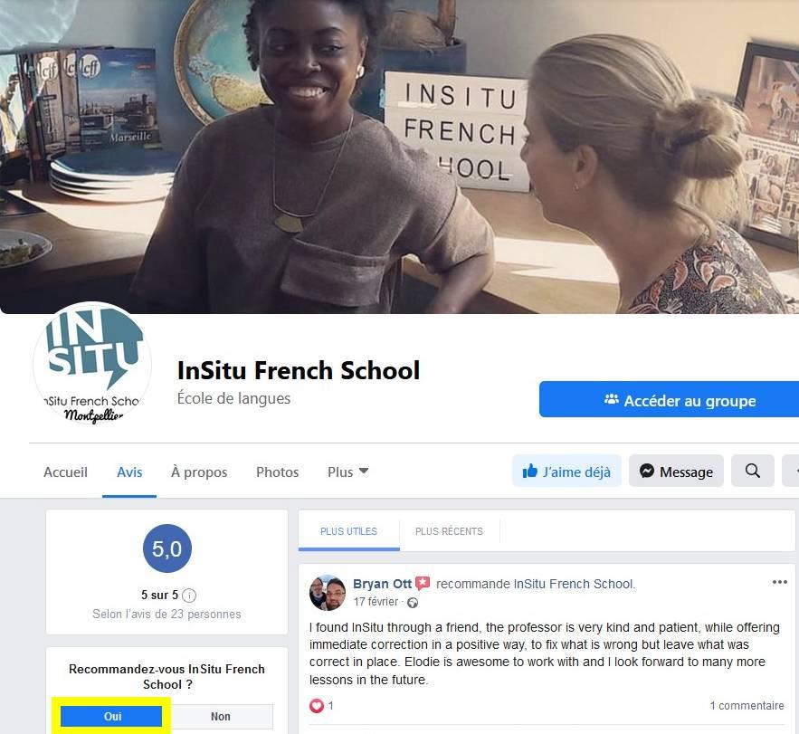 Déposer un avis à propos de InSitu French School